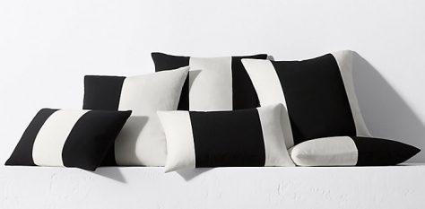 decoración en blanco y negro