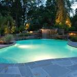 piscina con luces LED