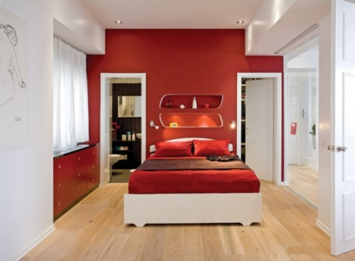 Decoración blanco y rojo