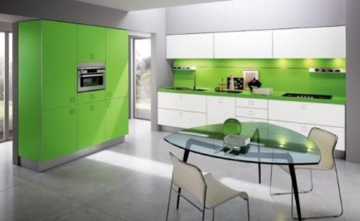 Decoraci n e ideas para mi hogar el color verde en la cocina for Decoracion hogar verde