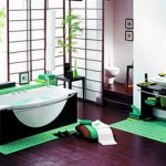 Decoración de baño color verde
