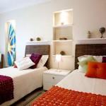 Dormitorio con estilo playero