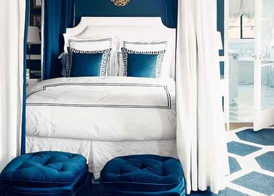 Diseno De Habitacion Matrimonial Con Baño:Dormitorio matrimonial decorado con color azul