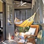 Espacio de relax con hamaca