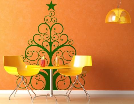 vinilo decorativo navideño verde