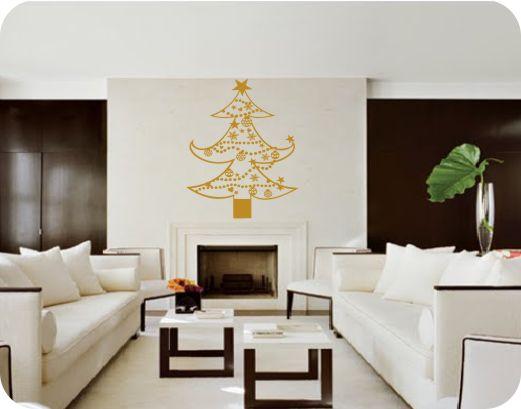 vinilo decorativo navideños dorado