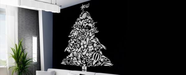 vinilos decorativos navideños arbol