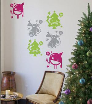 vinilos decorativos navideños en figuras