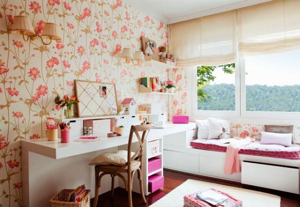 empapelado cuarto de nena