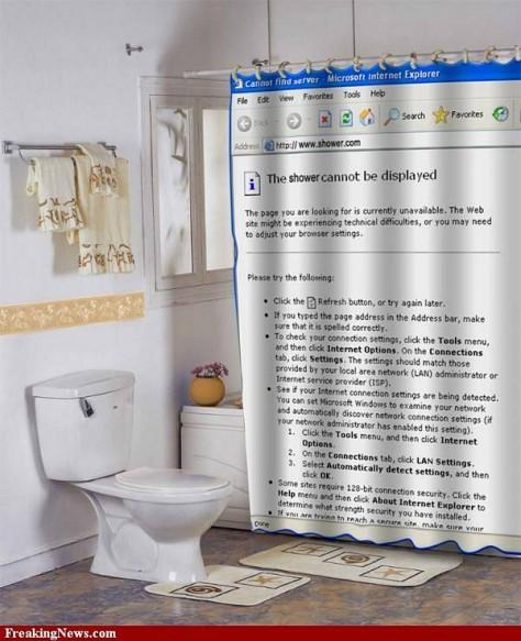 cortina baño internet