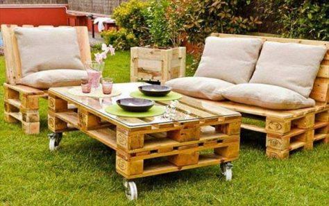 Muebles con palets para jardín.