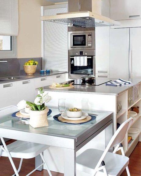 Islas de cocina con office