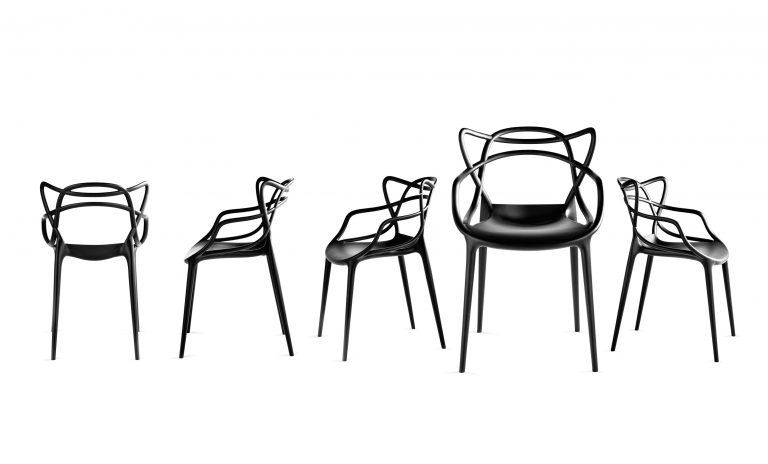 Sillas de Philippe Starck.