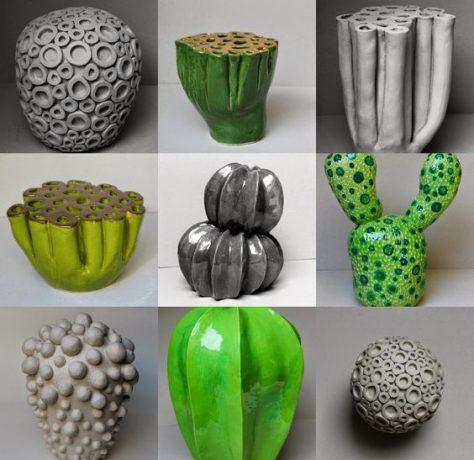 Adornos de cerámica, corales