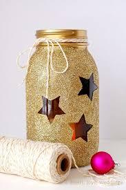 decorar frascos de vidrio con estrellas
