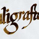 caligrafía es ideal para decorar cuadernos