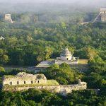 Vista aérea de Chichén Itzá
