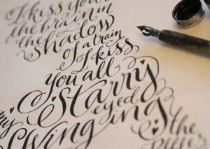 Caligrafía para decorar cuadernos