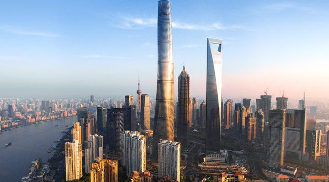 Conjunto deShanghai world financial center, uno de los edificios más altos del mundo