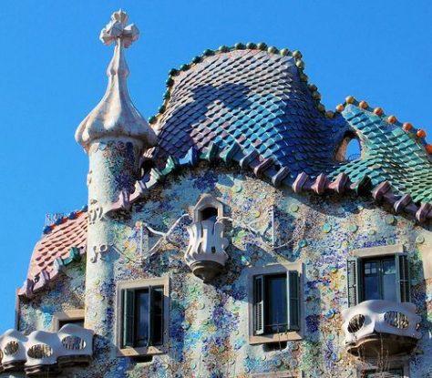 Bóveda de Casa Batlló de Antoni Gaudí