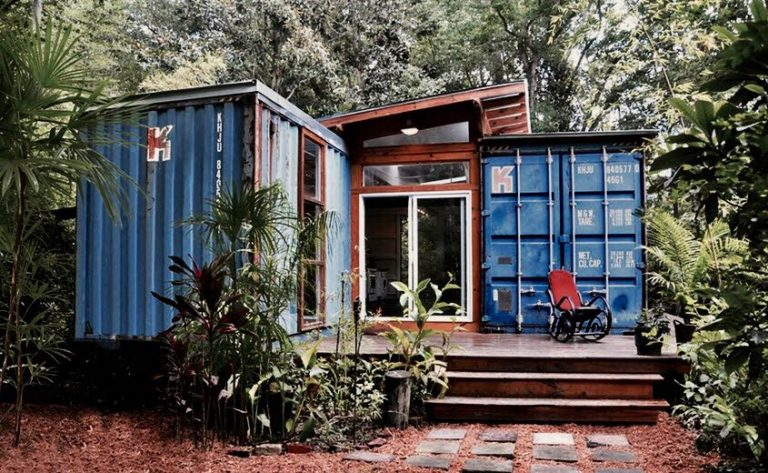 Casas de container en la naturaleza