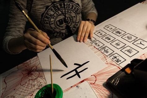 caligrafía china para decorar cuadernos