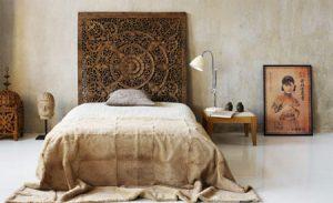 decorar una cama étnica simple