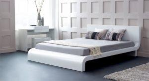 decorar una cama estilo minimalista en gris