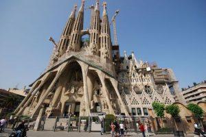 Fachada de la Sagrada Familia de Antoni Gaudí