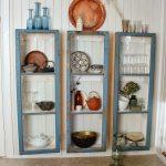 muebles reciclados con ventana de madera