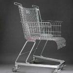 muebles reciclados con carritos de compra