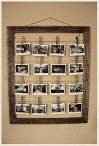 Decorar con fotos en marco