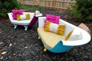 muebles reciclados con bañeras