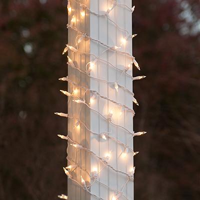 decorar una columna con luces